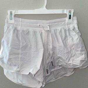 "Lululemon Womens Hotty hot 4"" shorts in size 6"